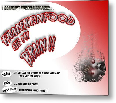 Metal Print featuring the photograph Frankenfood by Christopher Woods