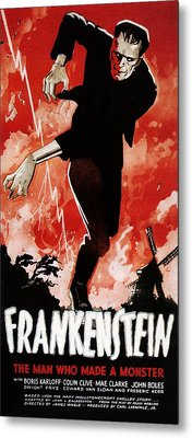 Frankenstein, Boris Karloff, 1931 Metal Print