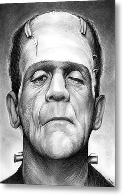 Frankenstein Metal Print by Greg Joens