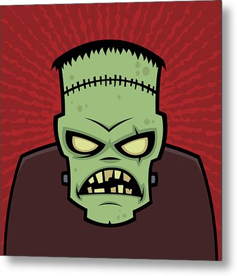 Frankenstein Monster Metal Print by John Schwegel