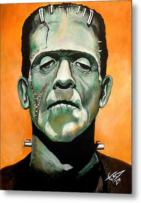Frankenstein Metal Print by Tom Carlton