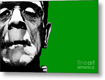 Frankenstein's Monster Signed Prints Available At Laartwork.com Coupon Code Kodak Metal Print by Leon Jimenez