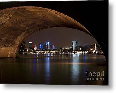 Frankfurt By Night Metal Print