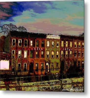 Metal Print featuring the photograph Franklin Ave. Bk by Iowan Stone-Flowers