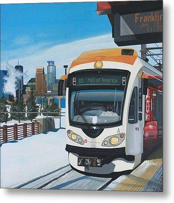 Franklin Avenue Station Metal Print by Jude Labuszewski