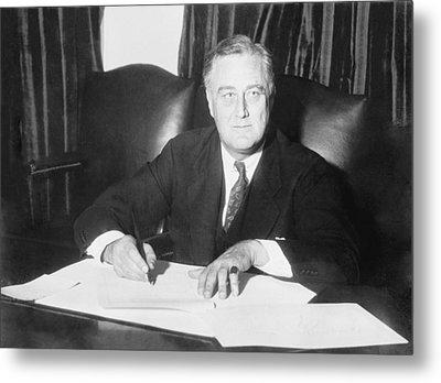 Franklin D. Roosevelt Ended Prohibition Metal Print by Everett