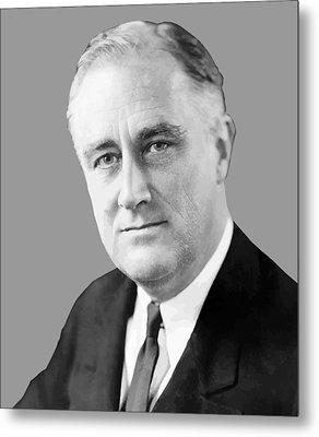 Franklin Delano Roosevelt Metal Print by War Is Hell Store