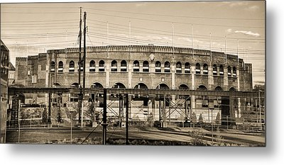 Franklin Field In Sepia Metal Print by Bill Cannon