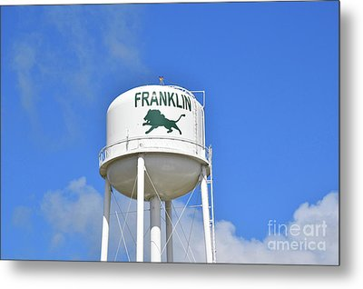 Franklin Texas Water Tower Metal Print by Ray Shrewsberry