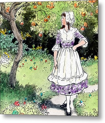 Frau Holle Also Known As Mother Holle Or Old Mother Frost Metal Print