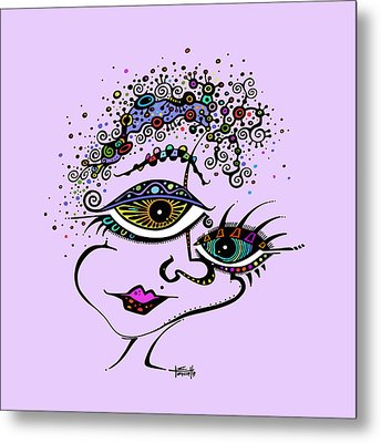 Frazzled Metal Print by Tanielle Childers