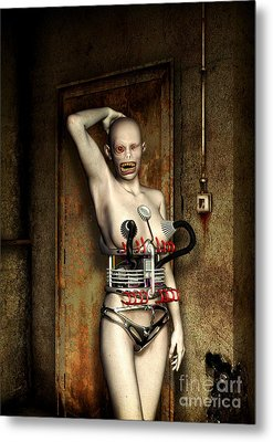 Freaks - The First Girl In The Basment Metal Print