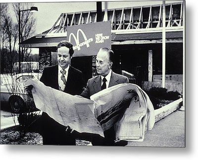 Fred Turner And Ray Kroc The Executive Metal Print by Everett