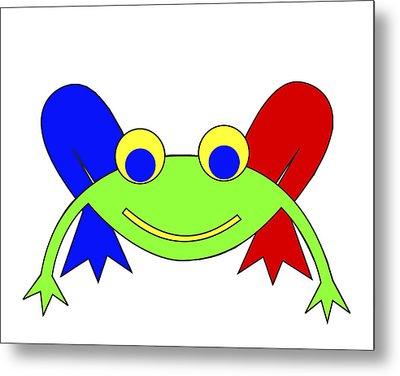 Frederic The Frog Metal Print by Asbjorn Lonvig