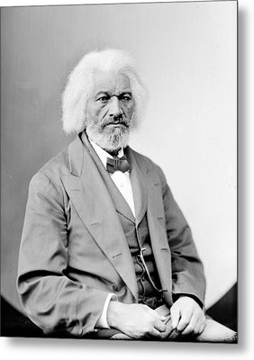 Frederick Douglass 1818-1895, African Metal Print by Everett
