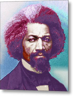 Frederick Douglass Painting In Color Pop Art Metal Print by Tony Rubino