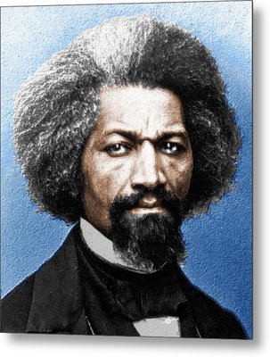 Frederick Douglass Painting In Color  Metal Print by Tony Rubino