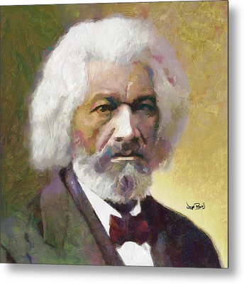 Frederick Douglass Metal Print by Wayne Pascall