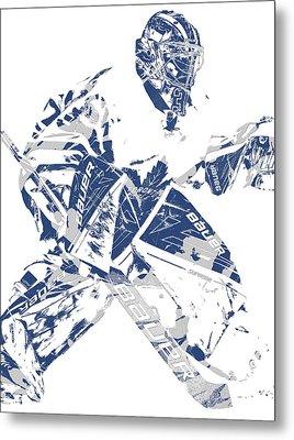 Frederik Andersen Toronto Maple Leafs Pixel Art 4 Metal Print