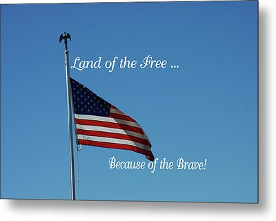Free Because Of Brave Metal Print by Robyn Stacey