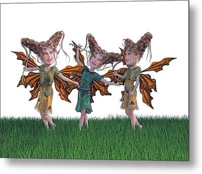 Free Spirit Friends Metal Print by Betsy Knapp