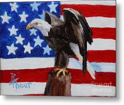Freedom Aceo Metal Print by Brenda Thour