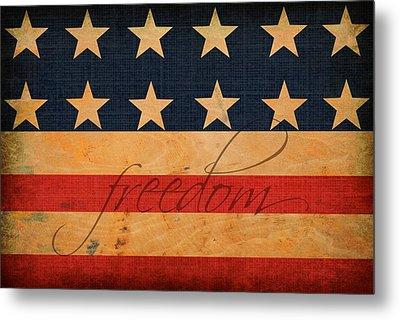 Freedom Americana Flag Metal Print by Chastity Hoff