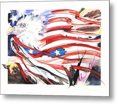 Metal Print featuring the mixed media Freedom by Anthony Burks Sr