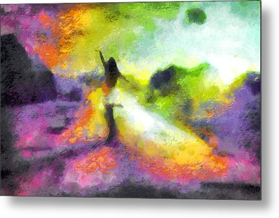 Freedom In The Rainbow Metal Print