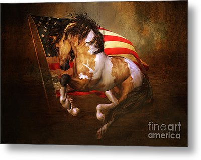Freedom Run Metal Print by Shanina Conway