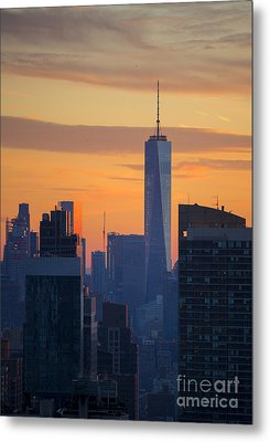 Freedom Tower At Sunset Metal Print by Diane Diederich