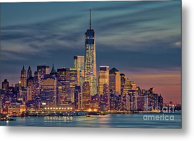 Freedom Tower Construction End Of 2013 Metal Print