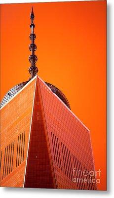 Freedom Tower Pop Art Metal Print by John Rizzuto