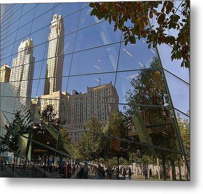 Ground Zero Reflection Metal Print