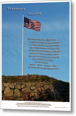 Freedom's Colors Metal Print by Patrick J Maloney