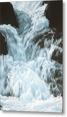 Freefall - Nine Horses Descend The Falls Metal Print