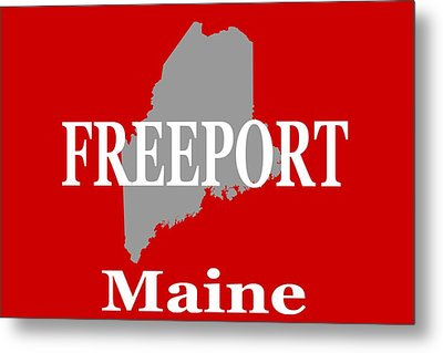 Metal Print featuring the photograph Freeport Maine State City And Town Pride  by Keith Webber Jr
