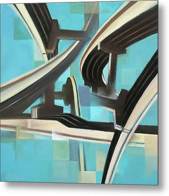 Metal Print featuring the painting Freeway Calligraphy by Dave Platford