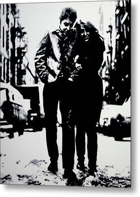Freewheelin Metal Print by Luis Ludzska
