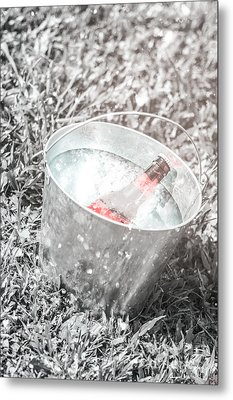 Freezing Cold Pale Ale Beer At Winter Festival Metal Print by Jorgo Photography - Wall Art Gallery