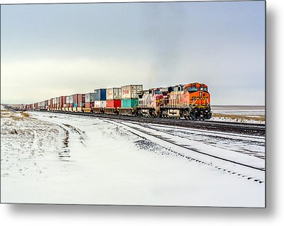 Freight Train Metal Print