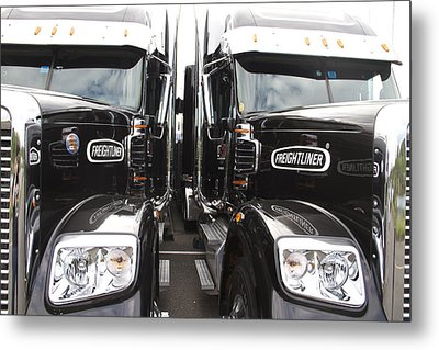 Freightliner Metal Print by Alice Gipson