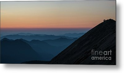 Fremont Lookout Sunset Layers Pano Metal Print by Mike Reid