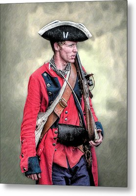 French And Indian War British Royal American Soldier Metal Print by Randy Steele