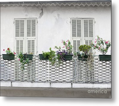 French Balcony With Shutters Metal Print