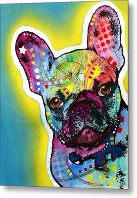 Metal Print featuring the painting French Bulldog by Dean Russo