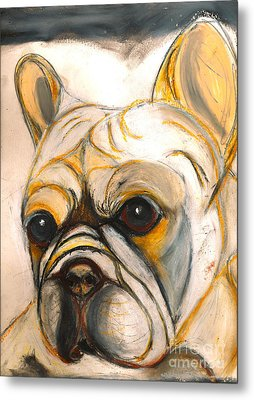 French Bulldog Drawing Metal Print