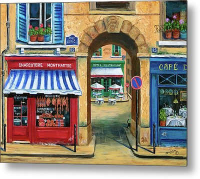 French Butcher Shop Metal Print by Marilyn Dunlap