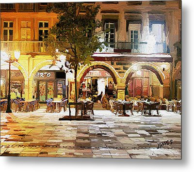 French Cafe Metal Print by James Shepherd