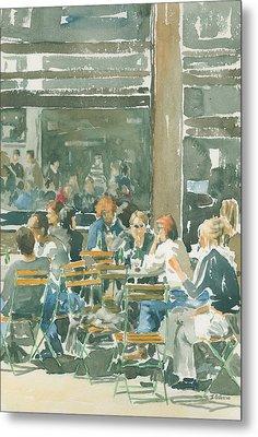 French Cafe Scene  Metal Print by Ian Osborne